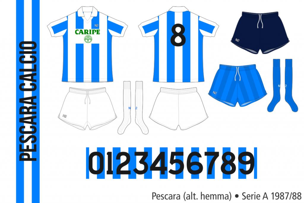 Pescara 1987/88 (alternativ hemma, kortärmad)