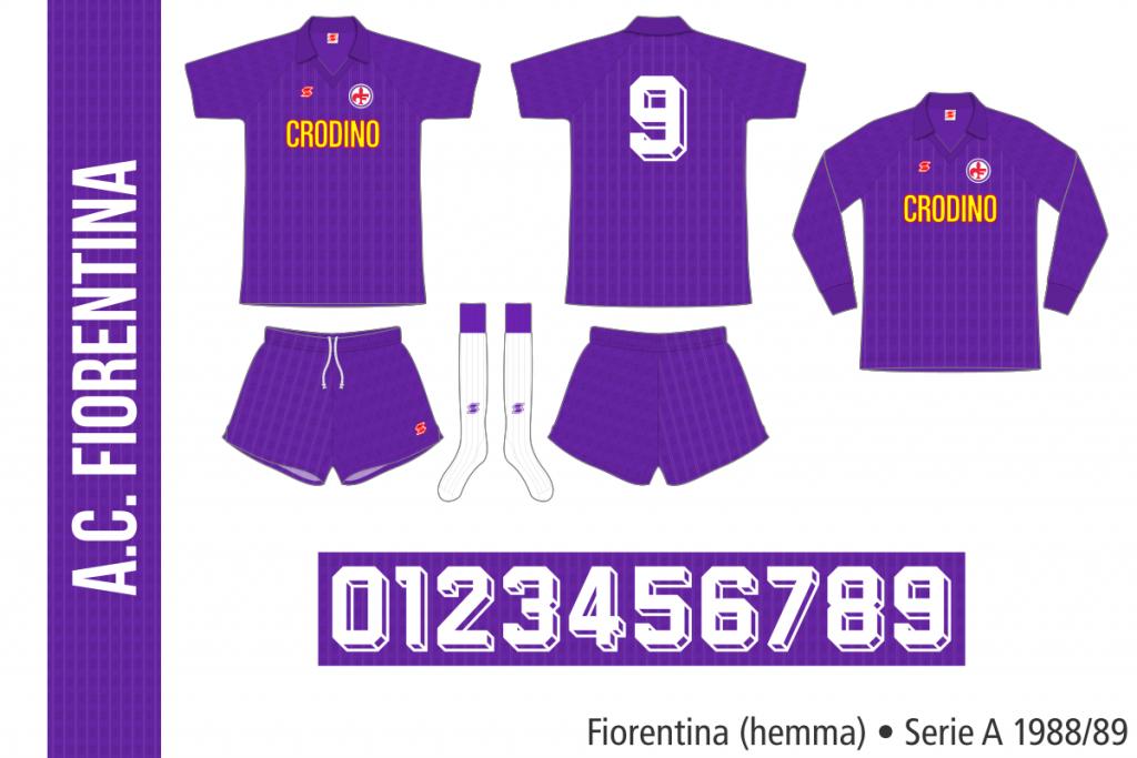 Fiorentina 1988/89 (hemma)