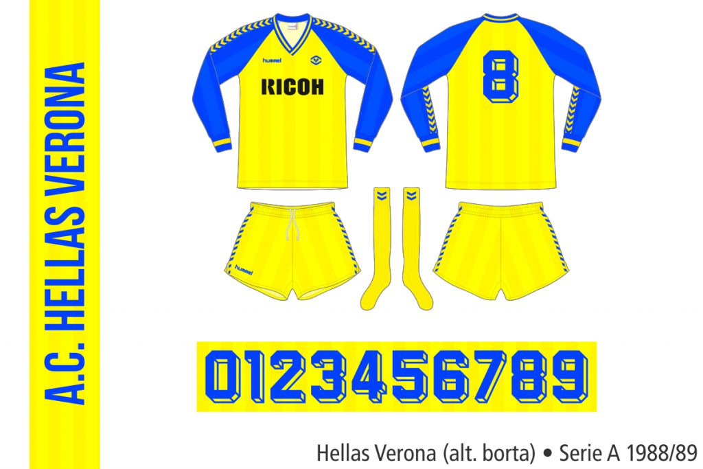 Hellas Verona 1988/89 (alternativ borta)
