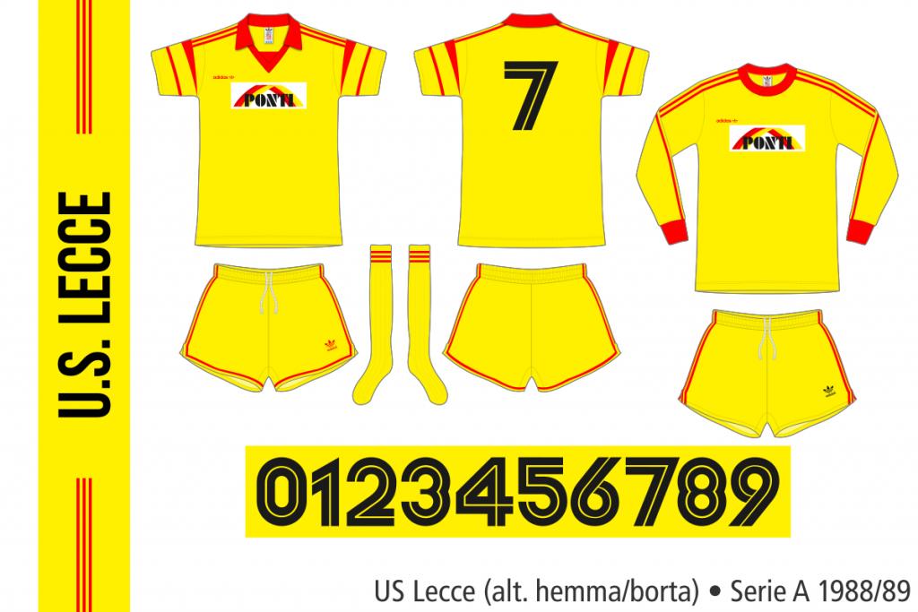 Lecce 1988/89 (alternativ hemma/borta)