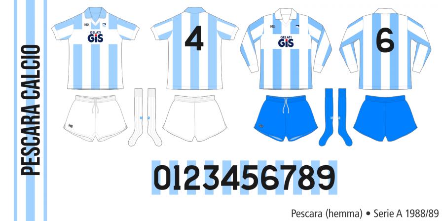 Pescara 1988/89 (hemma)