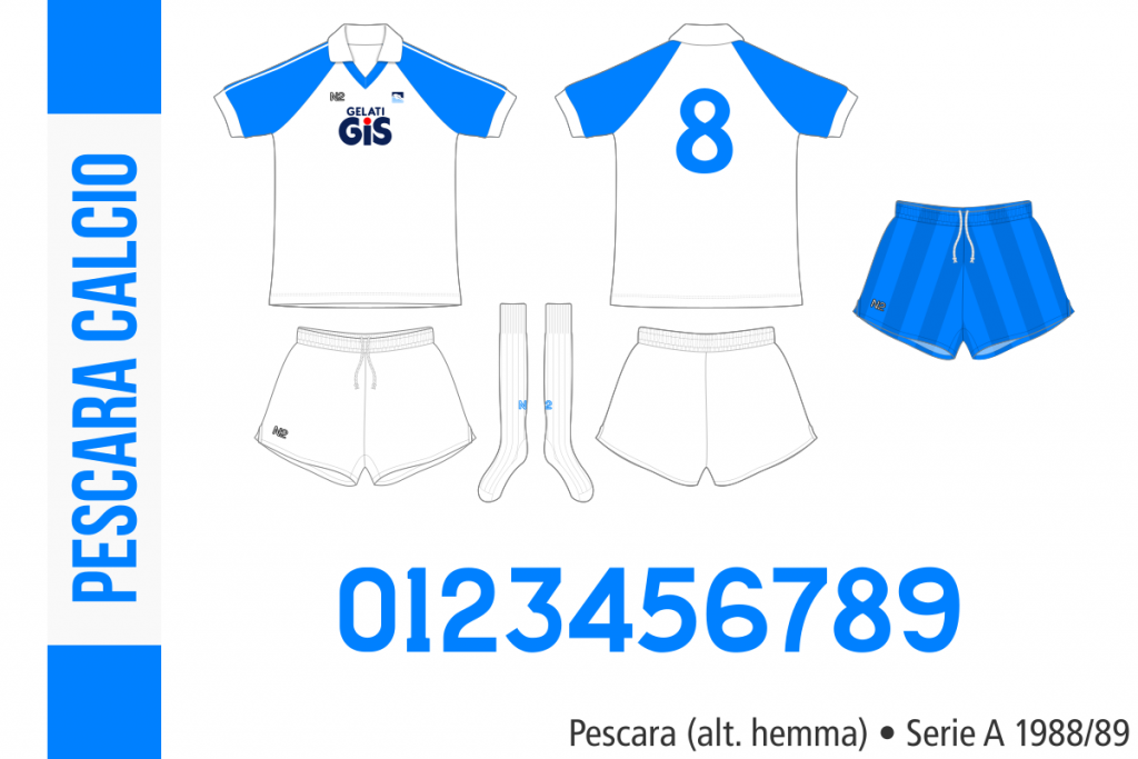 Pescara 1988/89 (alternativ hemma)