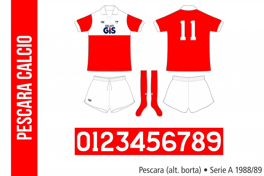 Pescara 1988/89 (alternativ borta)