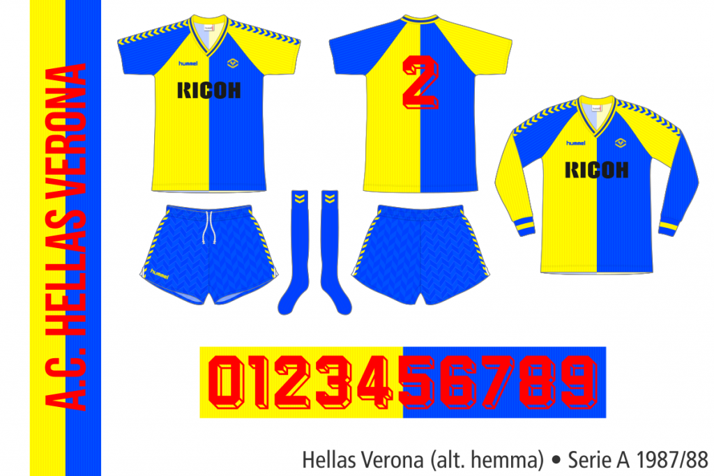 Hellas Verona 1987/88 (alternativ hemma)