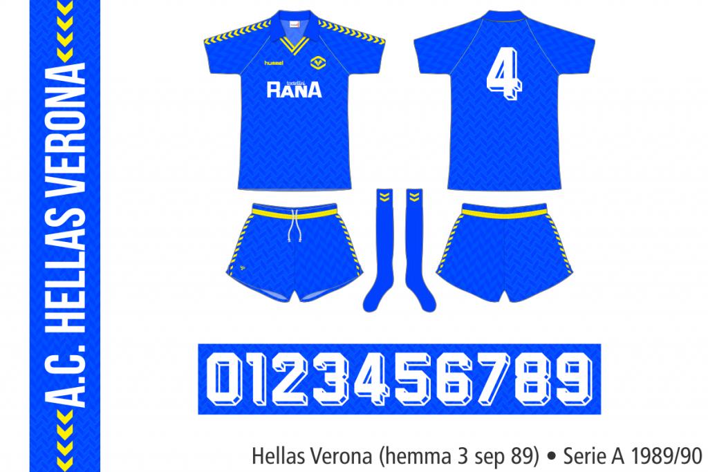 Hellas Verona 1989/90 (hemma 3 september 1989)
