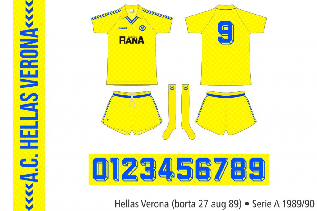 Hellas Verona 1989/90 (borta 27 augusti 1989)