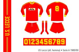 Lecce 1989/90 (alternativ hemma)
