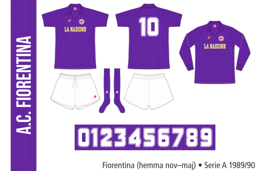 Fiorentina 1989/90 (hemma, november–maj)