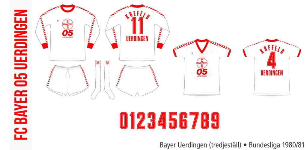 Bayer Uerdingen 1980/81 (tredjeställ)