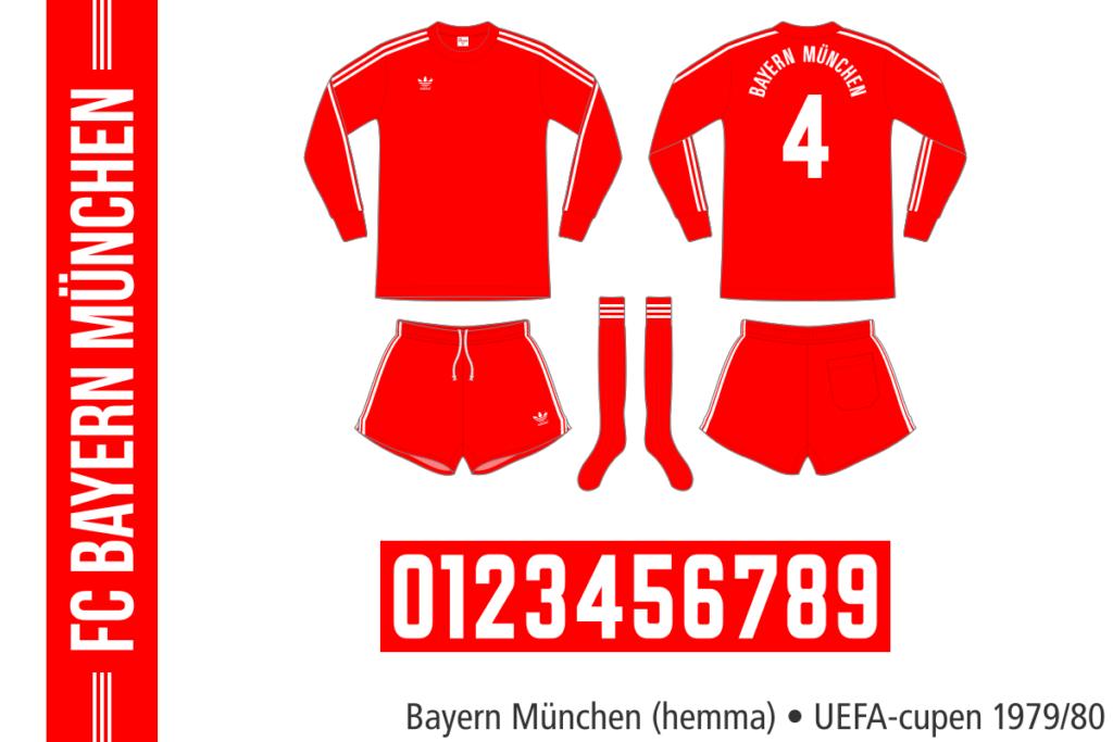 Bayern München 1979/80 (hemma, UEFA-cupen)