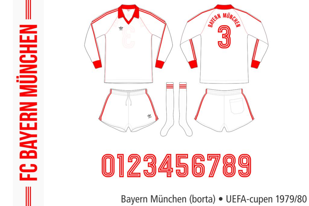 Bayern München 1979/80 (borta, UEFA-cupen)