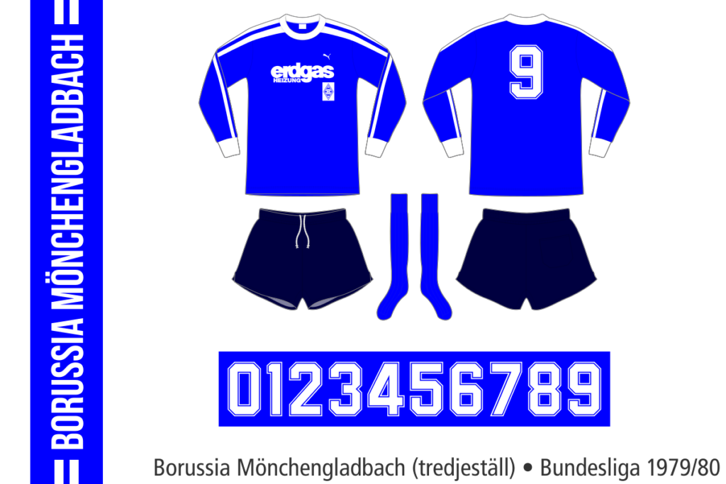 Borussia Mönchengladbach 1979/80 (tredjeställ)