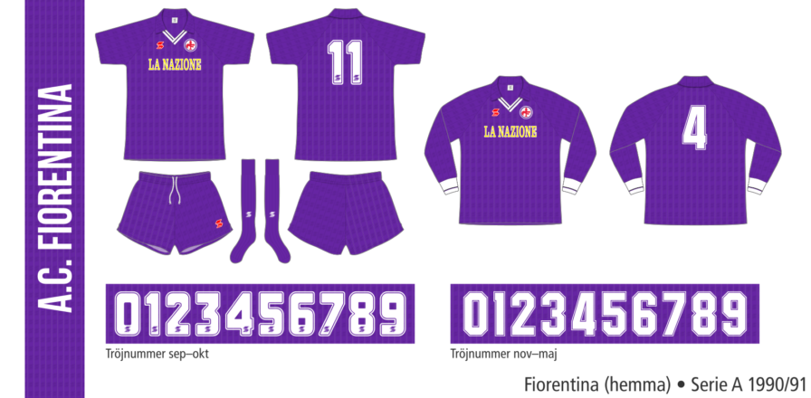 Fiorentina 1990/91 (hemma)