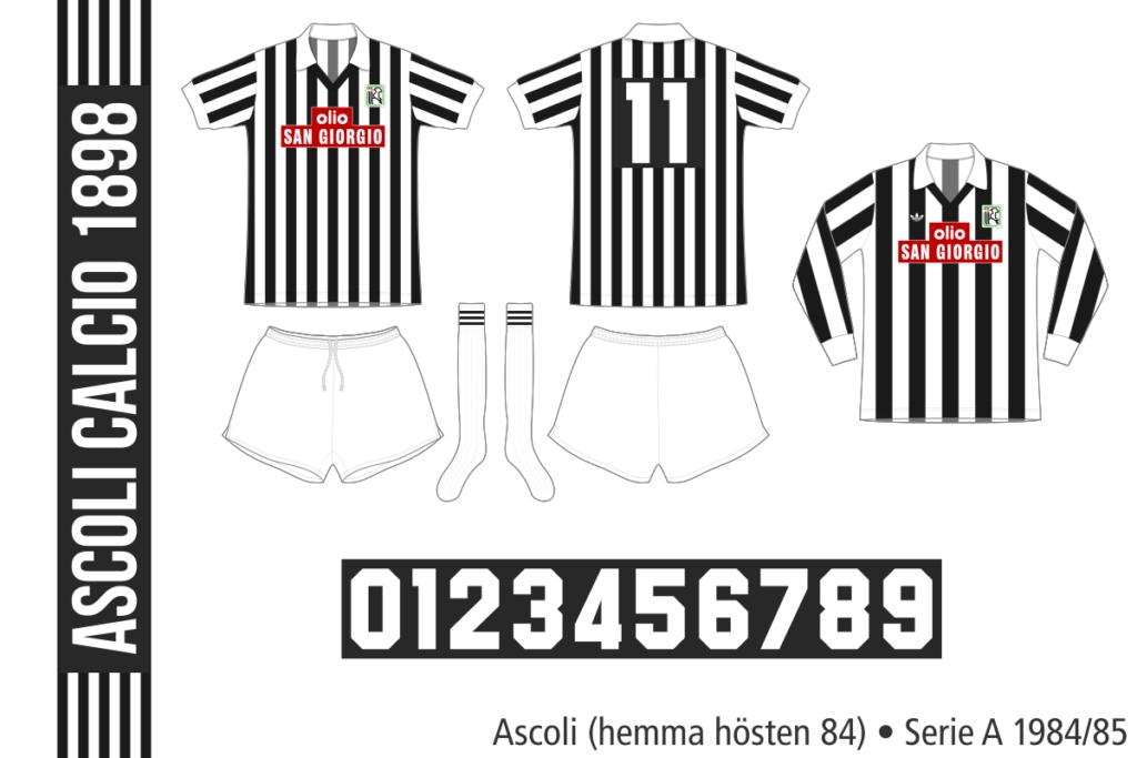 Ascoli 1984/85 (hemma hösten 84)