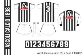 Ascoli 1984/85 (hemma våren 85)
