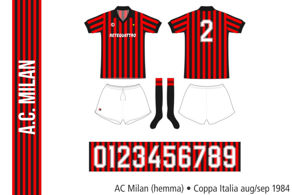 AC Milan 1984/85 (hemma, Coppa Italia, aug/sep 1984)