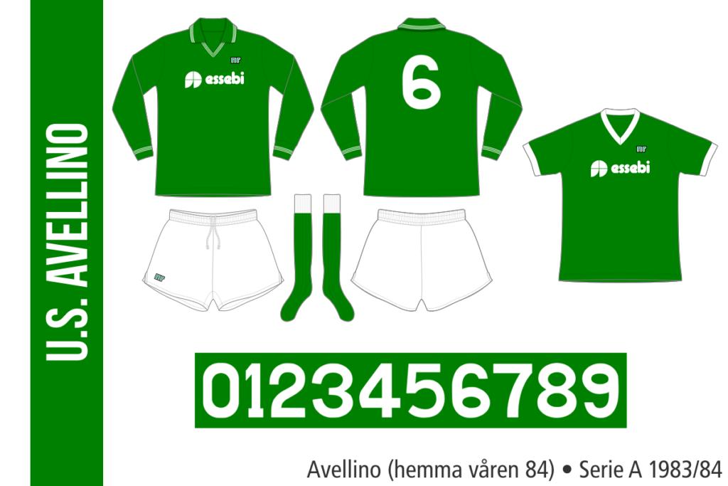 Avellino 1983/84 (hemma våren 84)
