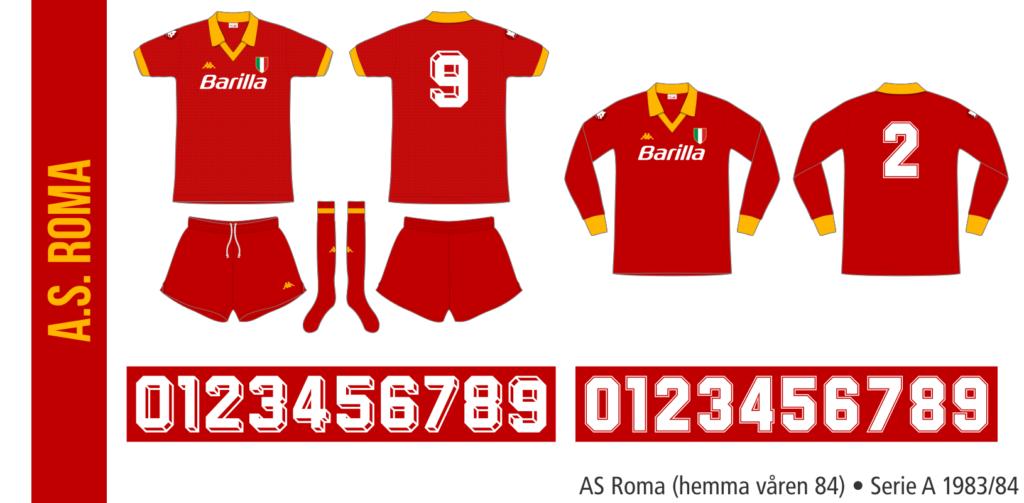 AS Roma 1983/84 (hemma våren 84)
