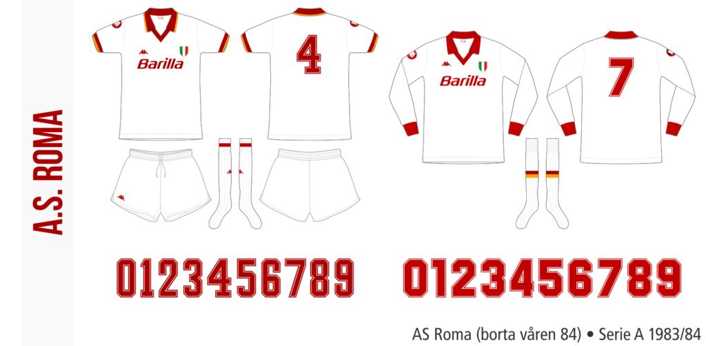 AS Roma 1983/84 (borta våren 84)