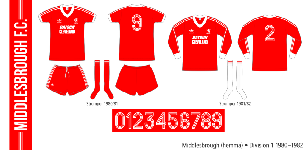 Middlesbrough 1980–1982 (hemma)