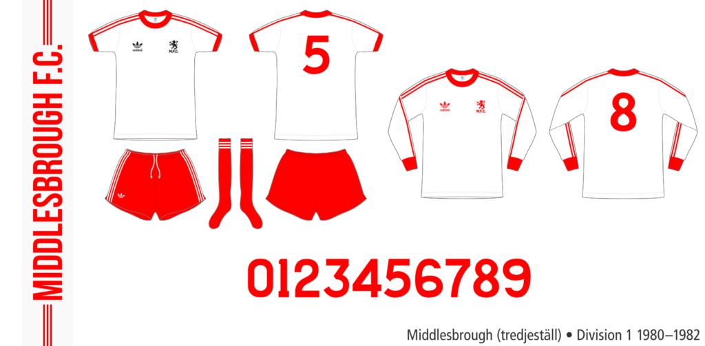 Middlesbrough 1980–1982 (tredjeställ)