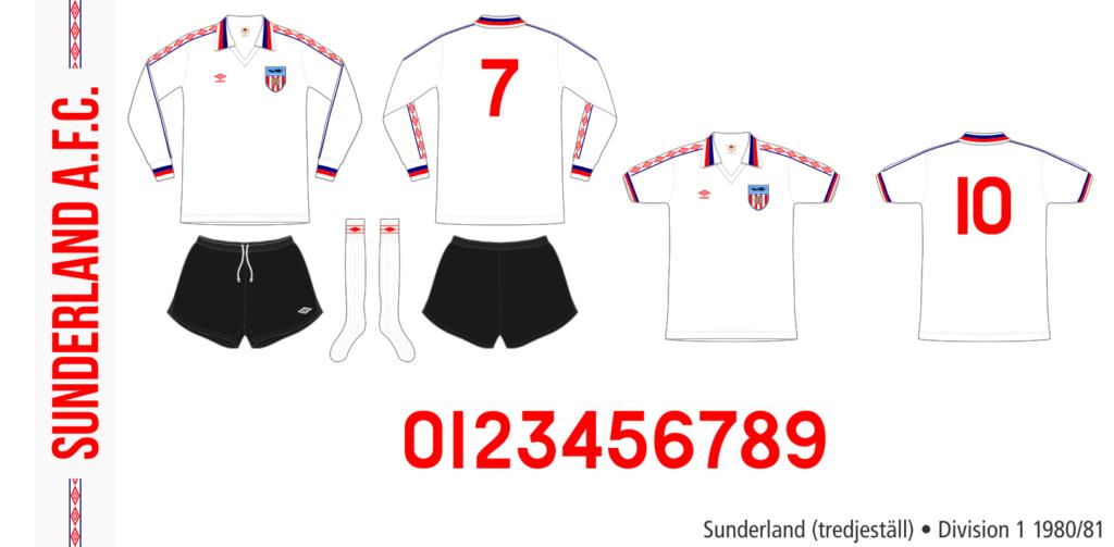Sunderland 1980/81 (tredjeställ)