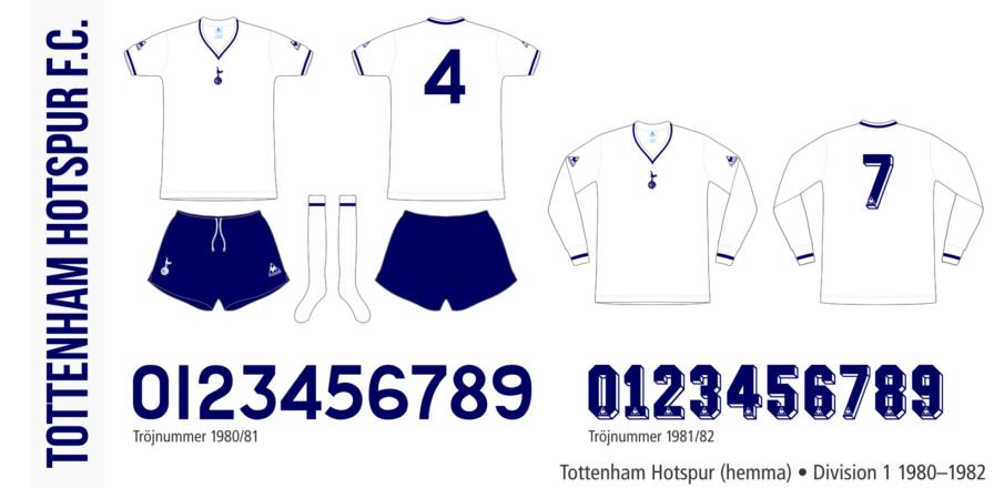 Tottenham Hotspur 1980–1982 (hemma)