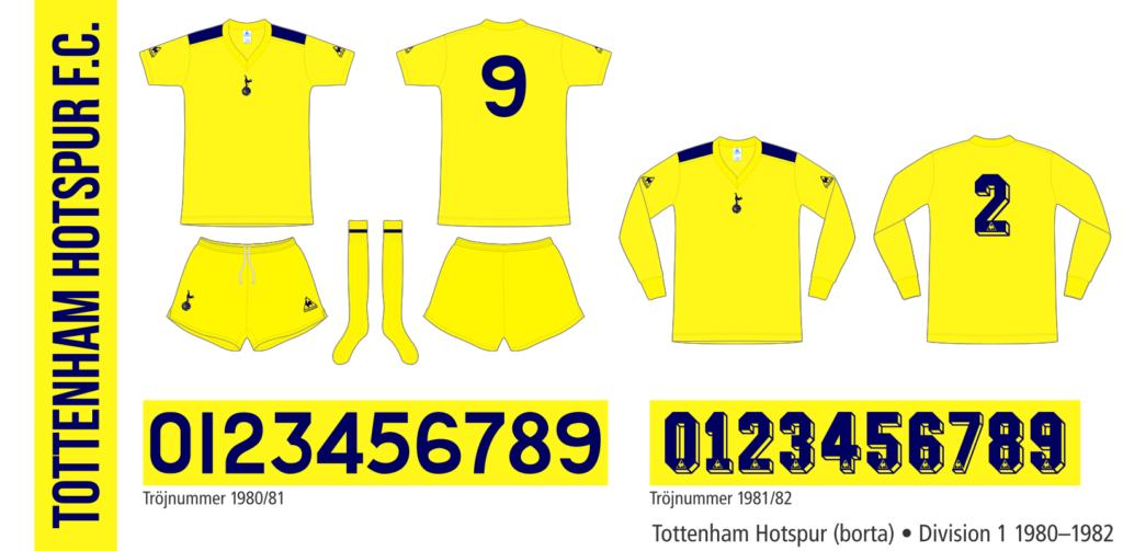 Tottenham Hotspur 1980–1982 (borta)