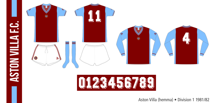 Aston Villa 1981/82 (hemma)