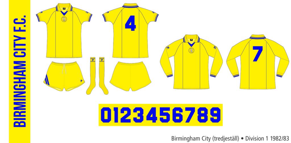 Birmingham City 1982/83 (tredjeställ)