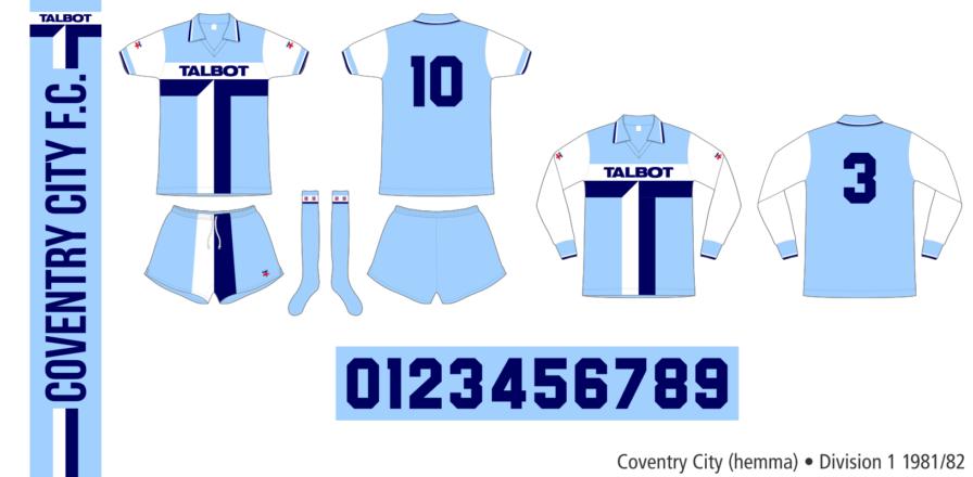 Coventry City 1981/82 (hemma)