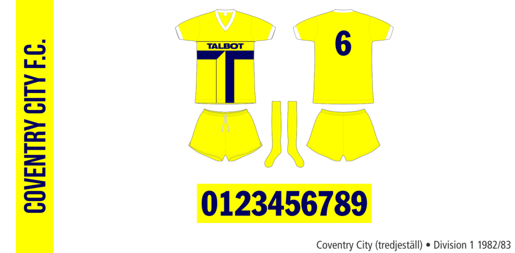 Coventry City 1982/83 (tredjeställ)