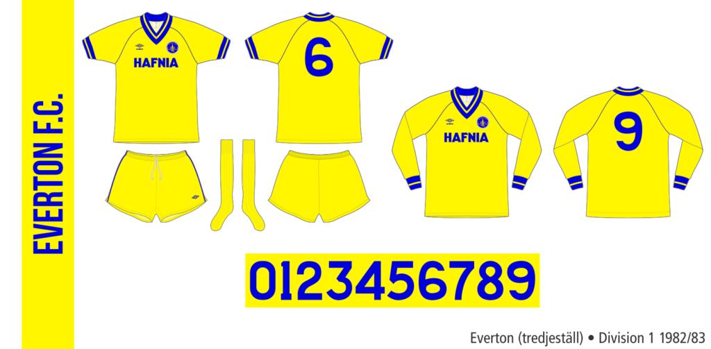 Everton 1982/83 (tredjeställ)