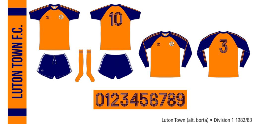 Luton Town 1982/83 (alternativ borta)