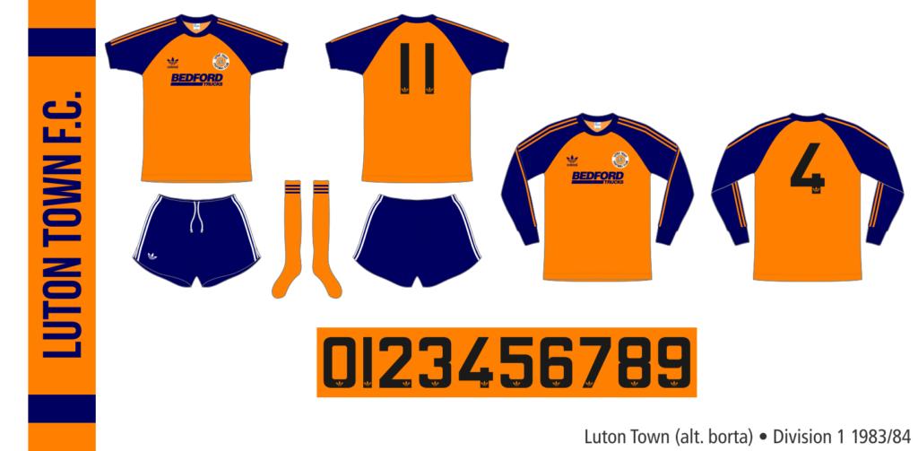 Luton Town 1983/84 (alternativ borta)