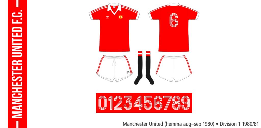 Manchester United 1980/81 (hemma, augusti–september)