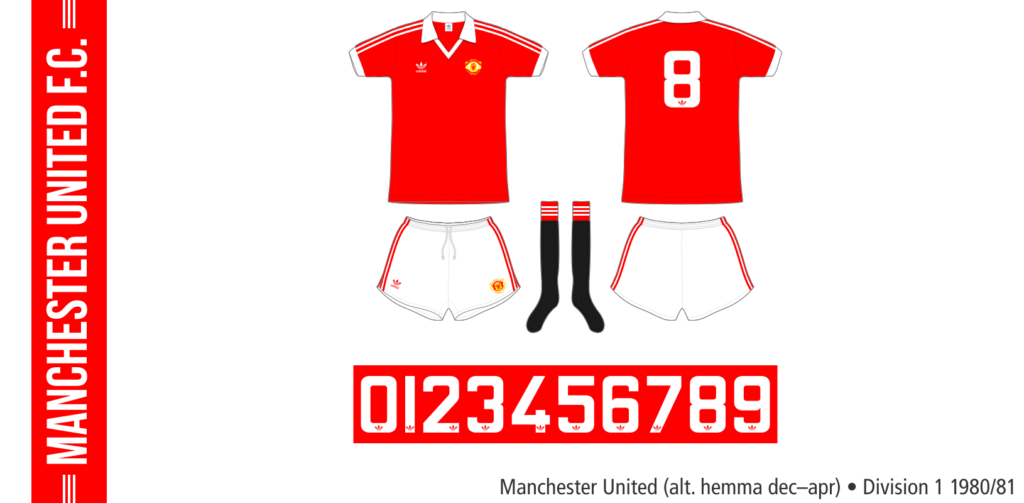 Manchester United 1980/81 (alternativ hemma, december–april)