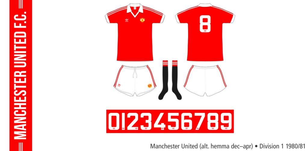 Manchester United 1980/81 (alternativ hemma, december–april)