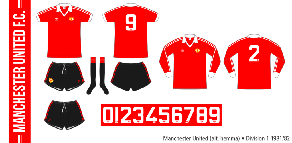 Manchester United 1981/82 (alternativ hemma)