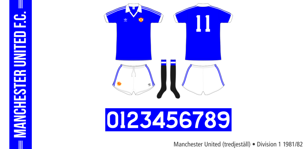 Manchester United 1981/82 (tredjeställ)