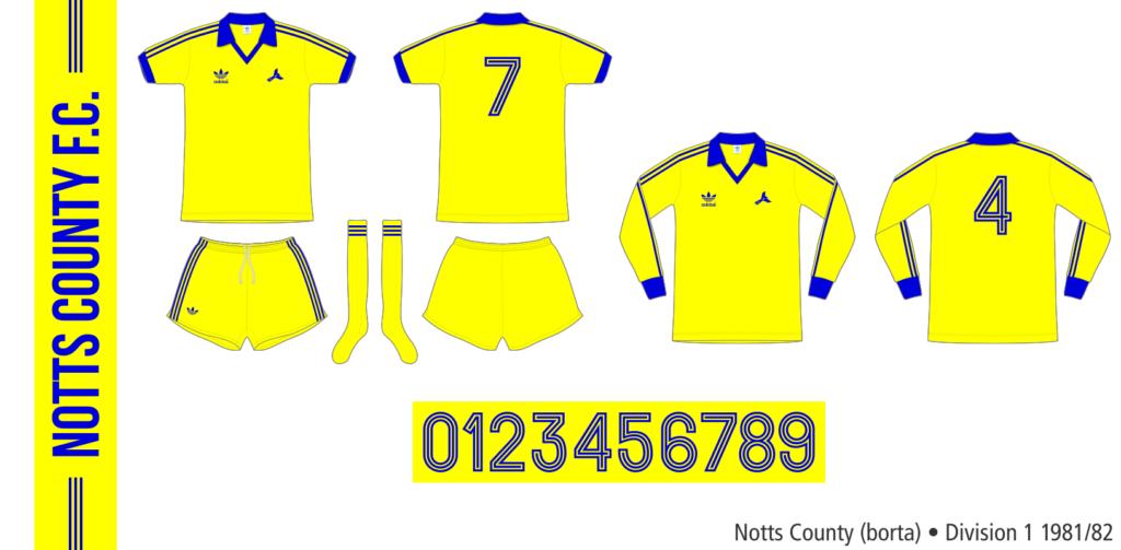 Notts County 1981/82 (borta)