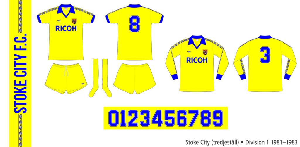 Stoke City 1981–1983 (tredjeställ)