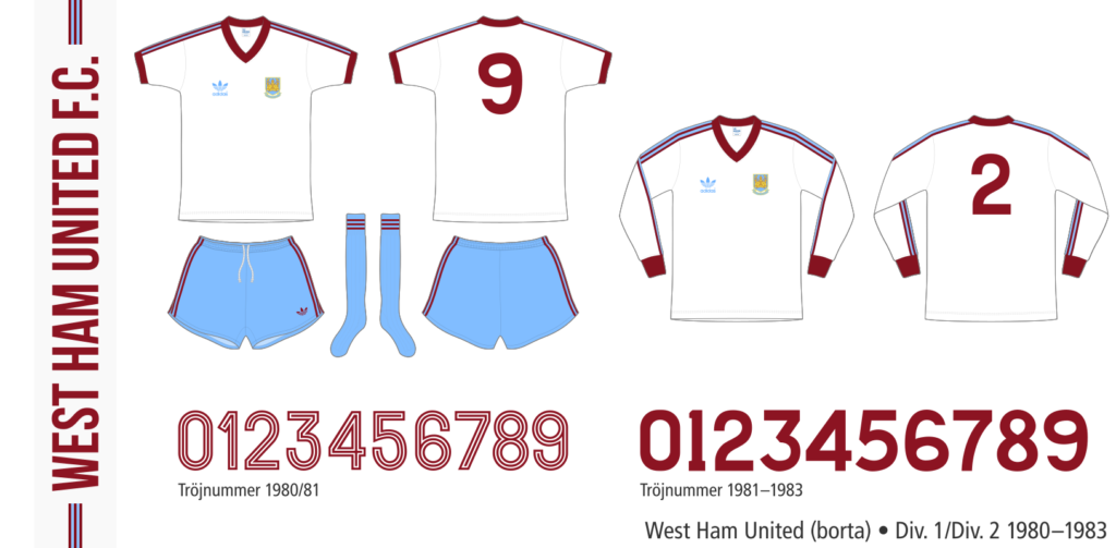 West Ham United 1980–1983 (borta)