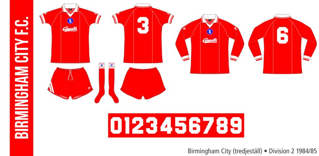 Birmingham City 1984/85 (tredjeställ)