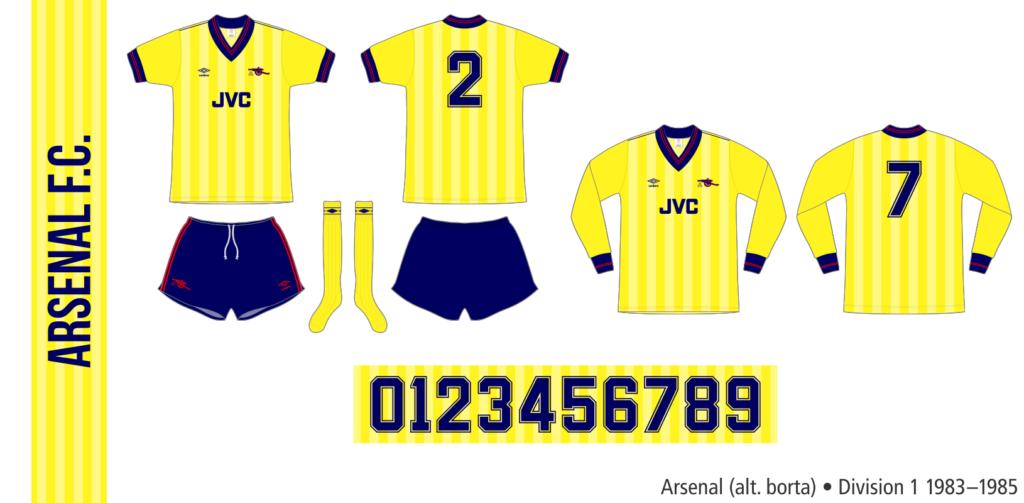 Arsenal 1983–1985 (alternativ borta)