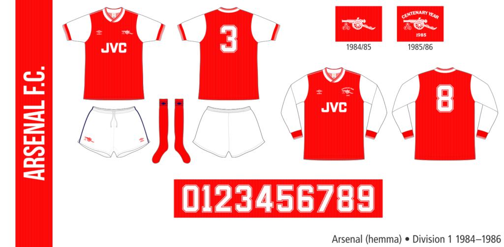Arsenal 1984–1986 (hemma)