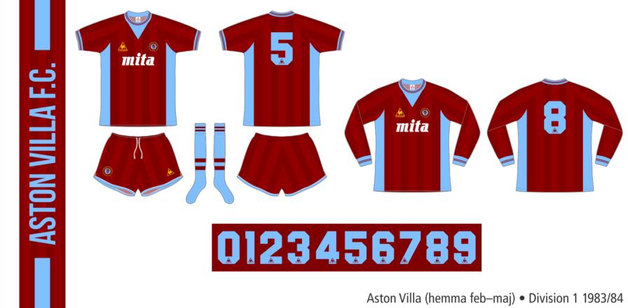 Aston Villa 1983/84 (hemma februari–maj)