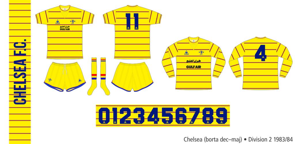 Chelsea 1983/84 (borta december–maj)