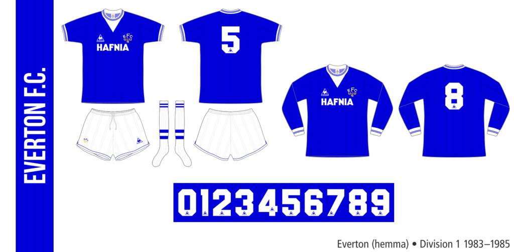 Everton 1983–1985 (hemma)