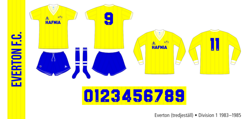 Everton 1983–1985 (tredjeställ)